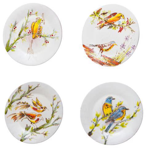 Decorative Salad Plates by Abigails Inc Decorative Birds Dessert Plate Set 4