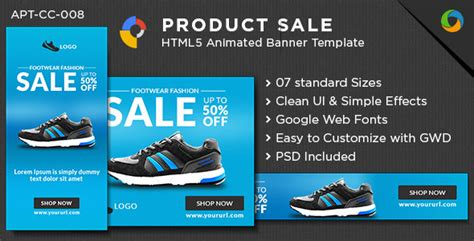 E Commerce Html5 Banners Google Web Designer By Doto Codecanyon Html5 Banner Template