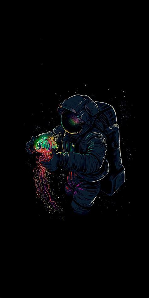 dark fantasy astronaut  jellyfish