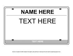 License Plate Template Google Search Planes Trains Automobiles Pinterest Student License Plate Invitation Template