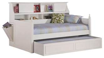 Bookshelf Headboard Queen Coaster Daisy Bookcase Wood Daybed With Under Bed Trundle