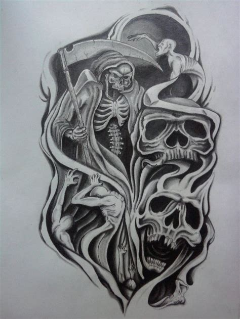 dark sleeve tattoo designs evil half sleeve design by