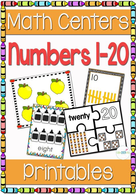 numbers 1 20 printable games numbers 1 20 math centers life over cs