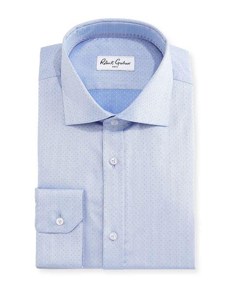 herringbone pattern shirt robert graham ancore herringbone dress shirt in blue for