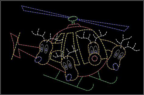 led commercial animated christmas displays