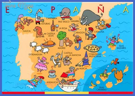 map of tourist attractions in spain map tourist attractions toursmaps