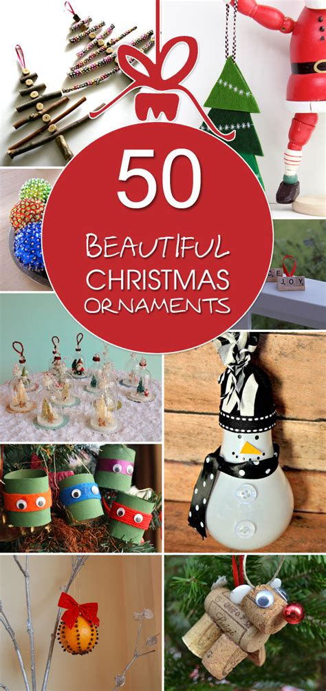 50 beautiful christmas ornaments that you can make at home