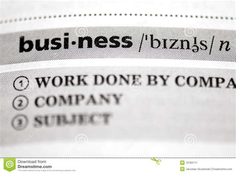 Closets Definition by Business Definition In Up Stock Image Image 10183171