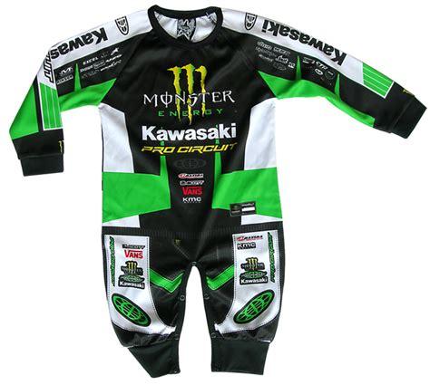 youth monster energy motocross gear monster pro circuit kawasaki 1 piece replica playwear
