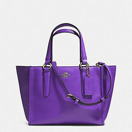 Coach Mini Crosby 21 Terracota coach f33537 crosby mini carryall in smooth leather light gold violet coach handbags