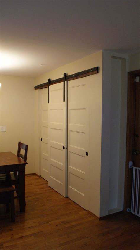 hometalk new pantry build with sliding barn style doors