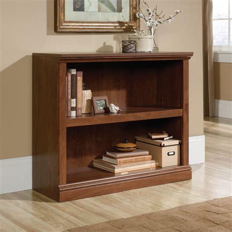 sauder bookcase oak finish 2 shelf bookcase in oiled oak 420178