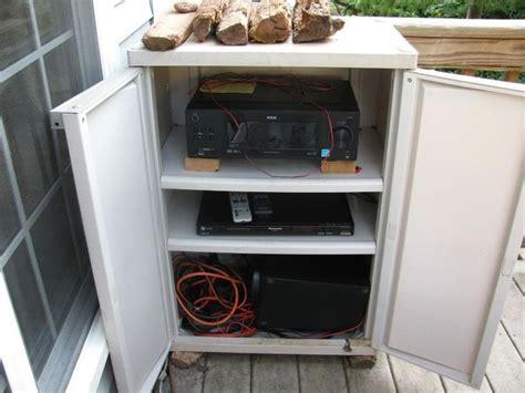 astonishing outdoor waterproof cabinet  stereo