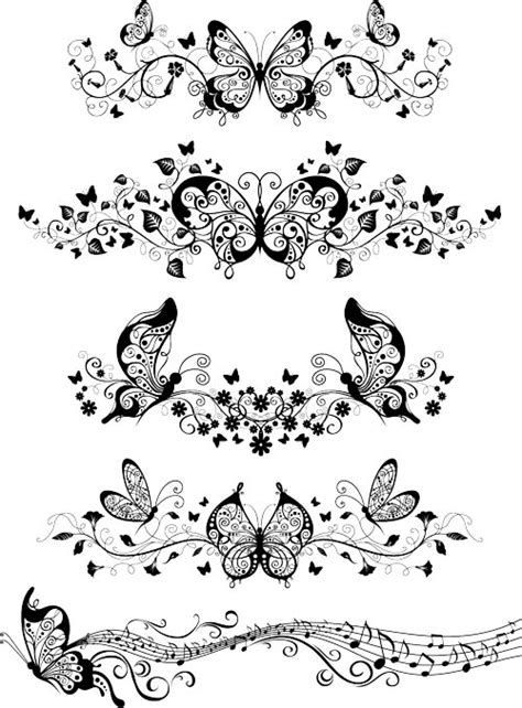 tattoo design template free tattoo templates vector ornaments with butterflies