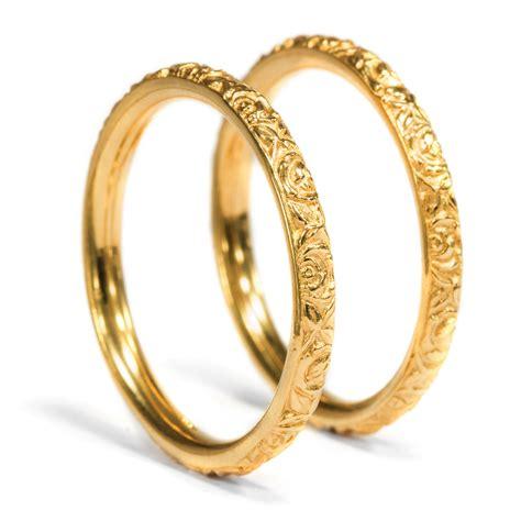 Jugendstil Eheringe by Aus Unserer Werkstatt Edles Paar 900er Gold Ringe Als