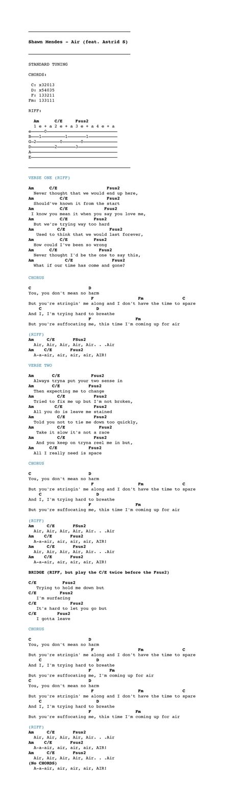 sofa song chords shawn mendes quot air quot chordistry