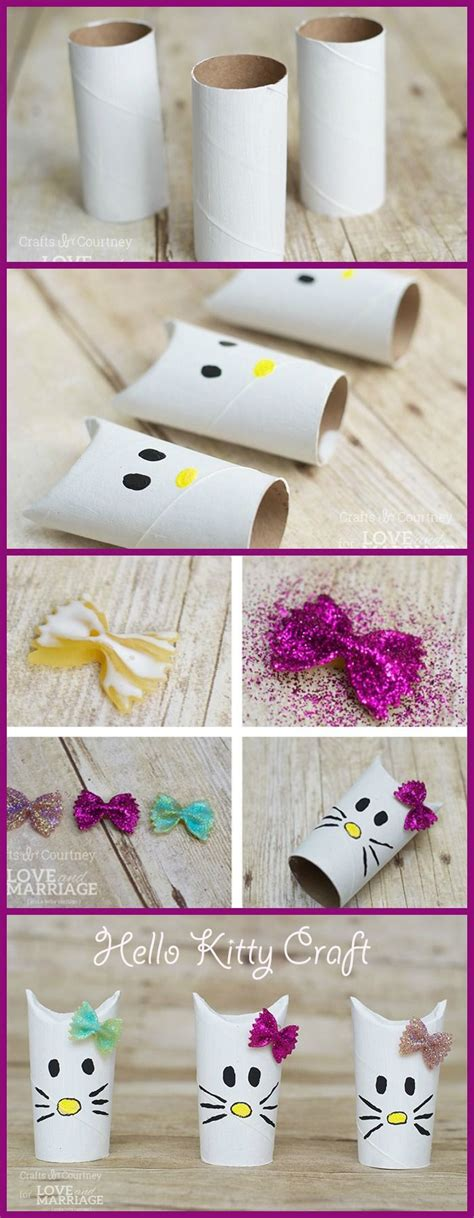 How To Make A Paper Hello - adorable hello craft made with toilet paper rolls