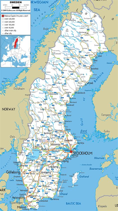 Scandinavian Living by Detailed Clear Large Road Map Of Sweden Ezilon Maps