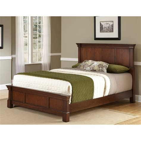 cherry king bed shop home styles aspen rustic cherry king panel bed at