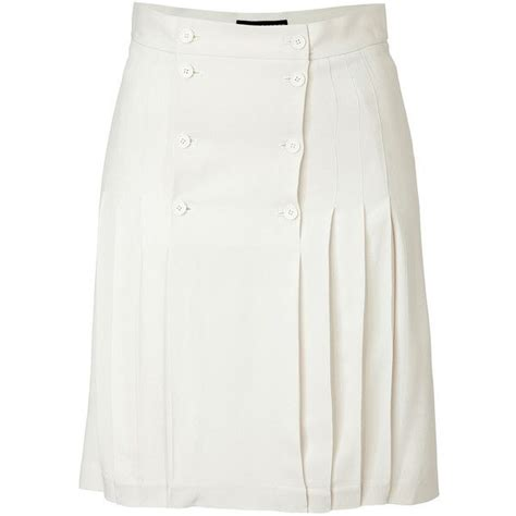 high waisted white pleated skirt dress