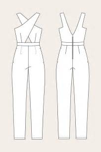 jumpsuit template ailakki cross front jumpsuit named