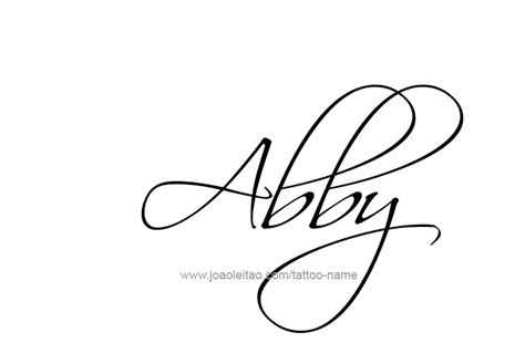 abigail tattoo design the name abby in cursive www pixshark images