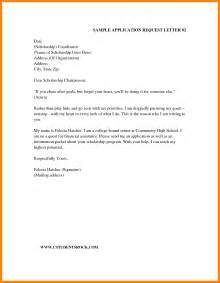 Application Letter For Scholarship Request 4 Application Letter For Scholarship Request Printable