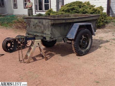 jeep utility trailer armslist for sale jeep trailer army utility
