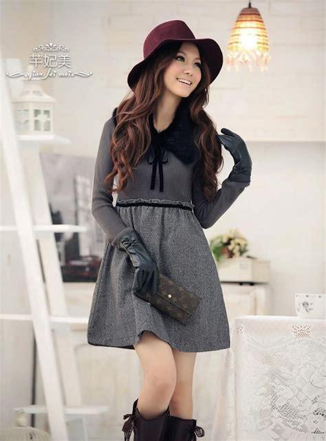 Jy778103 Top Big Size Dress Korea Import Coffee Wool Dress Import Kode Cs Qt98116coffee Zahira