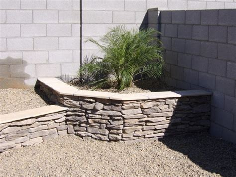 Block Wall Planters by Planter Against Block Wall Garden
