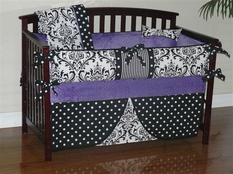 Damask Nursery Bedding Thenurseries Purple Damask Crib Bedding