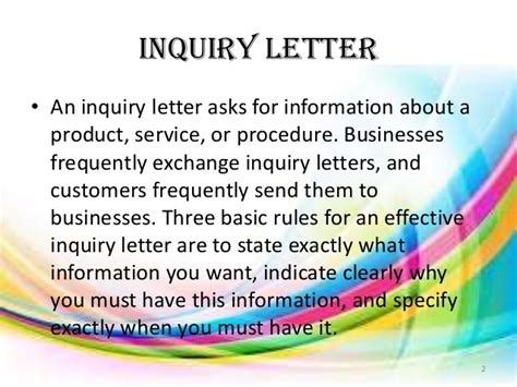 Types Of Business Letter Inquiry types of business letters