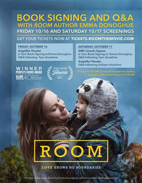 Where To Room 2015 Book Signing Plus Q A With Room Author Donoghue