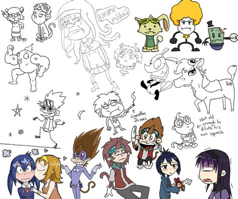 doodles pt 1 by wonchop on deviantart