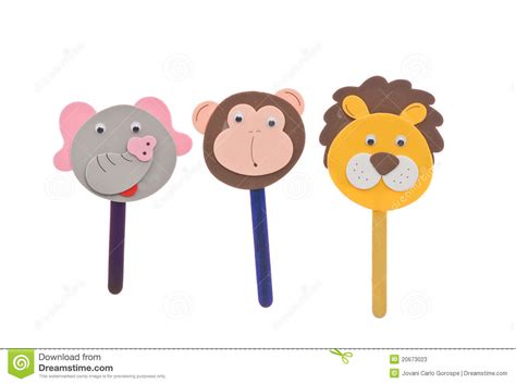 printable animal stick puppets animal stick puppets stock image image of colorful eyes