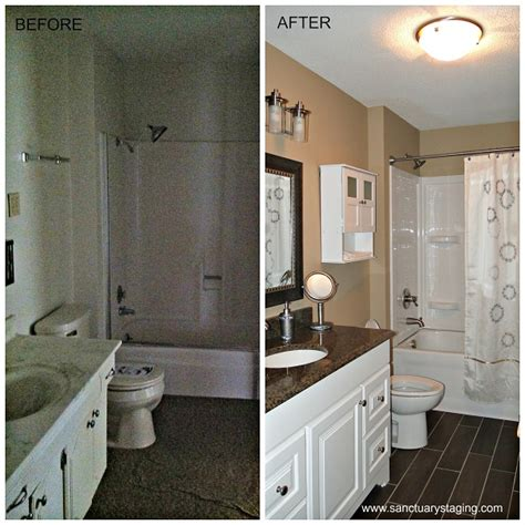 Bathroom Staging Before And After Sanctuary Renovations Sanctuary Staging And Styling
