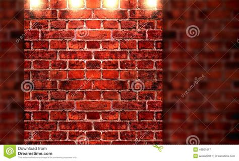 brick wall and lights stock photo image 49801017