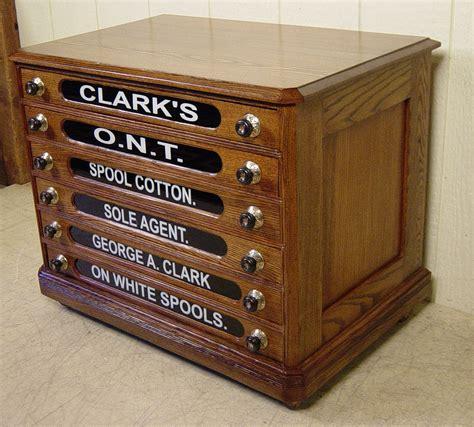 6 drawer spool cabinet george a clark oak spool cabinet