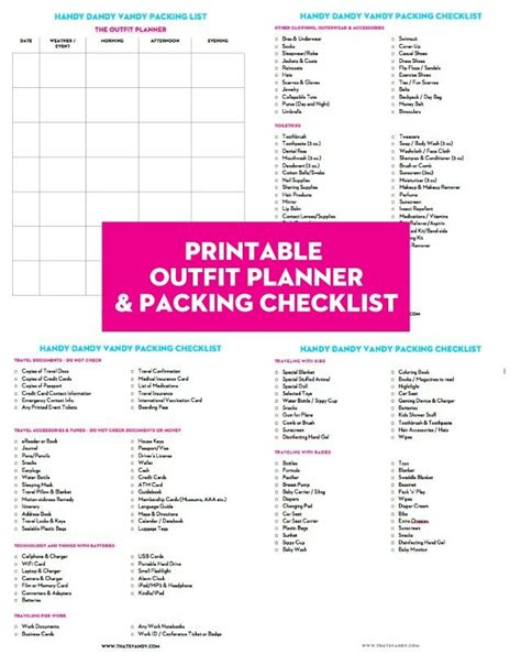 printable outfit planner the handy dandy vandy packing packet printable that s vandy