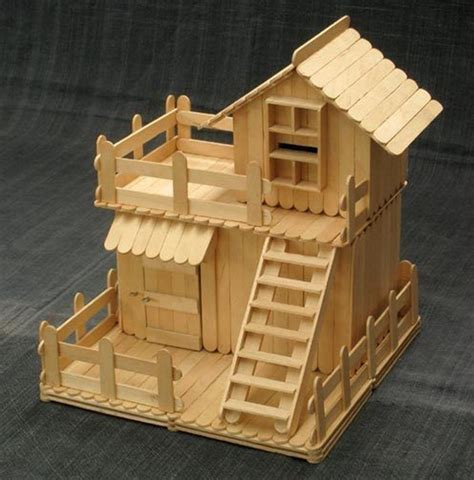 popsicle stick house floor plans 35 so adorable popsicle stick craft house designs for fun