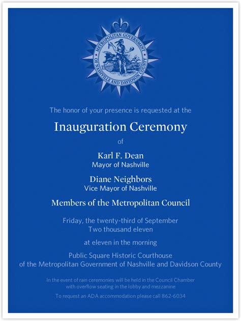 Inauguration Ceremony Invitation Card