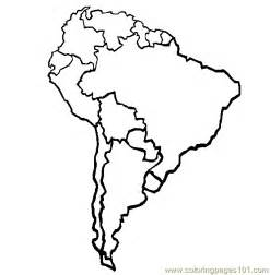 south america map printable free no color map america coloring pages