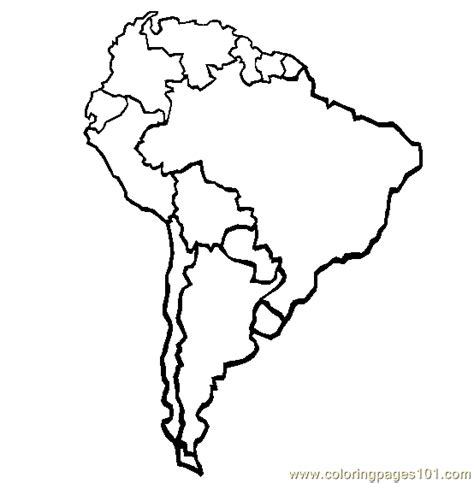printable south america map free no color map america coloring pages