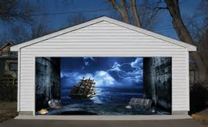 Garage Door Murals For Sale by 3d Effect Garage Door Billboard Sticker Cover Decor Old