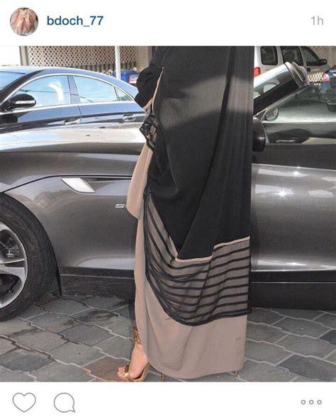 black and beige abaya abaya muslimah fashion