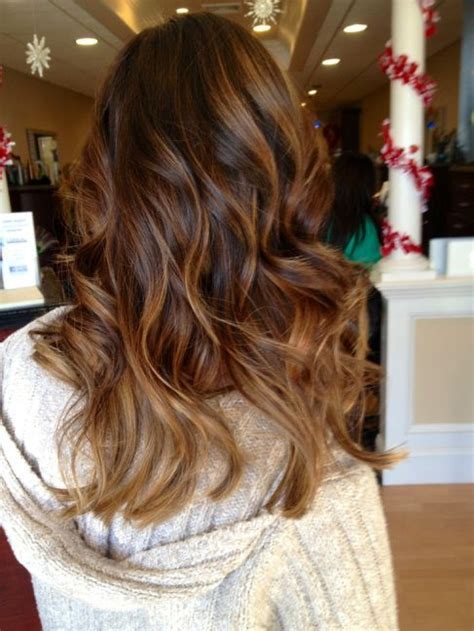partial red highlights on dark brown hair partial balayage on dark hair google search projects