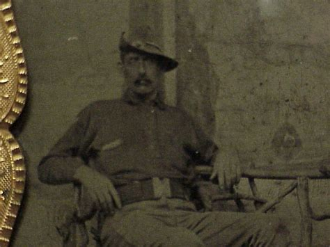 Tin type Soldier Indian Wars Spanish American War Mills