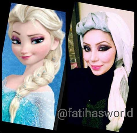 tutorial rambut frozen hijab style 5 hijabers bergaya ala elsa frozen miulan