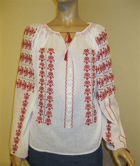 Cotton Blouse Size S M L 36709 7 best embroidered blouses images on