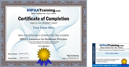 hipaa certificate template hipaa certification and compliance